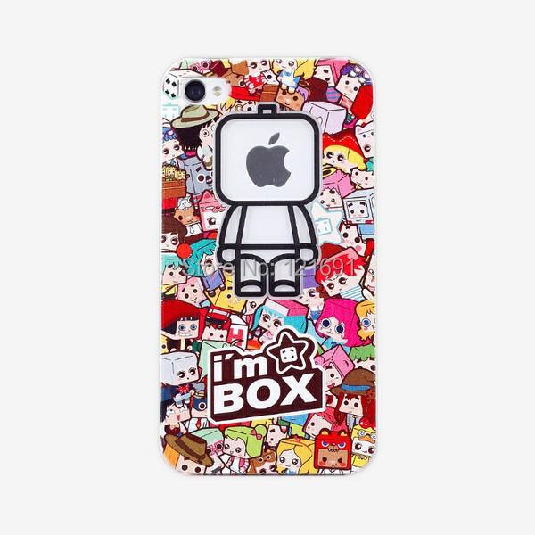 1PCS,Transparent am box creative Logo Hard Back Cover Case Skin iphone 4/4S 5/5S - Shenzhen LongSheng Technology Co., LTD store