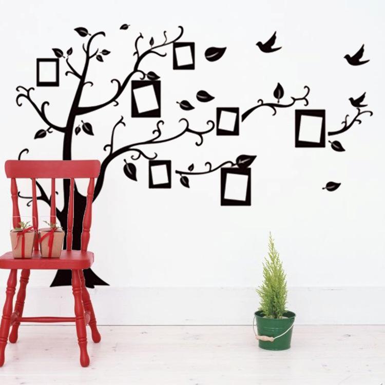 New photo wall photo frame tree Tree Wall Stickers wall- memory tree stickers 60 * 90CM PVC(China (Mainland))