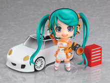 Japanese Anime Figures Racing Car Hatsune Miku Q Version Pvc Action Figures Cartoon Hot Toys 10cm Toys Kid Gift Collection Model