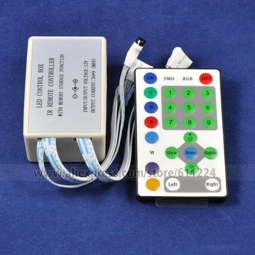 72W 24-key IR Remote Control Box Set for SMD 3528 / 5050 LED Light Strip / LED Module DC 12V Free Shipping(China (Mainland))