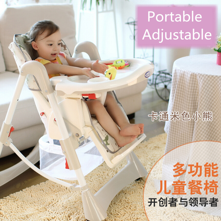 Portable Baby High Chair Booster Seat Kid,Infant Baby Dining Lunch Feeding Chair,Plastic Chair Folding,Seggiolone Portatile Baby(China (Mainland))