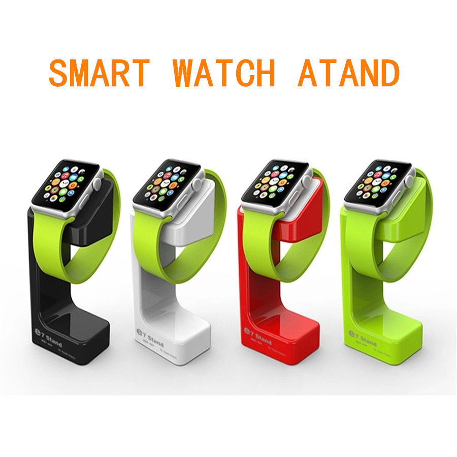Latest Product Apple Watch Stand, iWatch Stand Bracket Docking Station Charger Holder for Both 38mm and 42mm + Retail Box(China (Mainland))