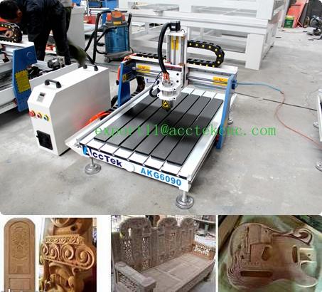 mini 3d cnc marble machine for sale AKG6090cnc router aluminum profile for wood metal stone(China (Mainland))