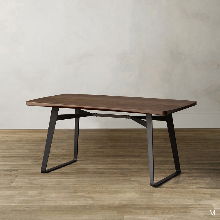 10% off Thanksgiving / classics / North America black walnut furniture / evens wood t Iron West table 2(China (Mainland))