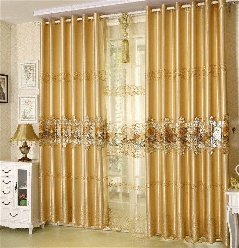 Chamie Living Room Curtain Fashion Quality Embroidered Curtains Finished Ready Made Curtains
