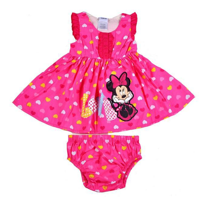 2014 new style  minnie mouse dress  with  briefs  size 12 18 24M,6set/lot<br><br>Aliexpress