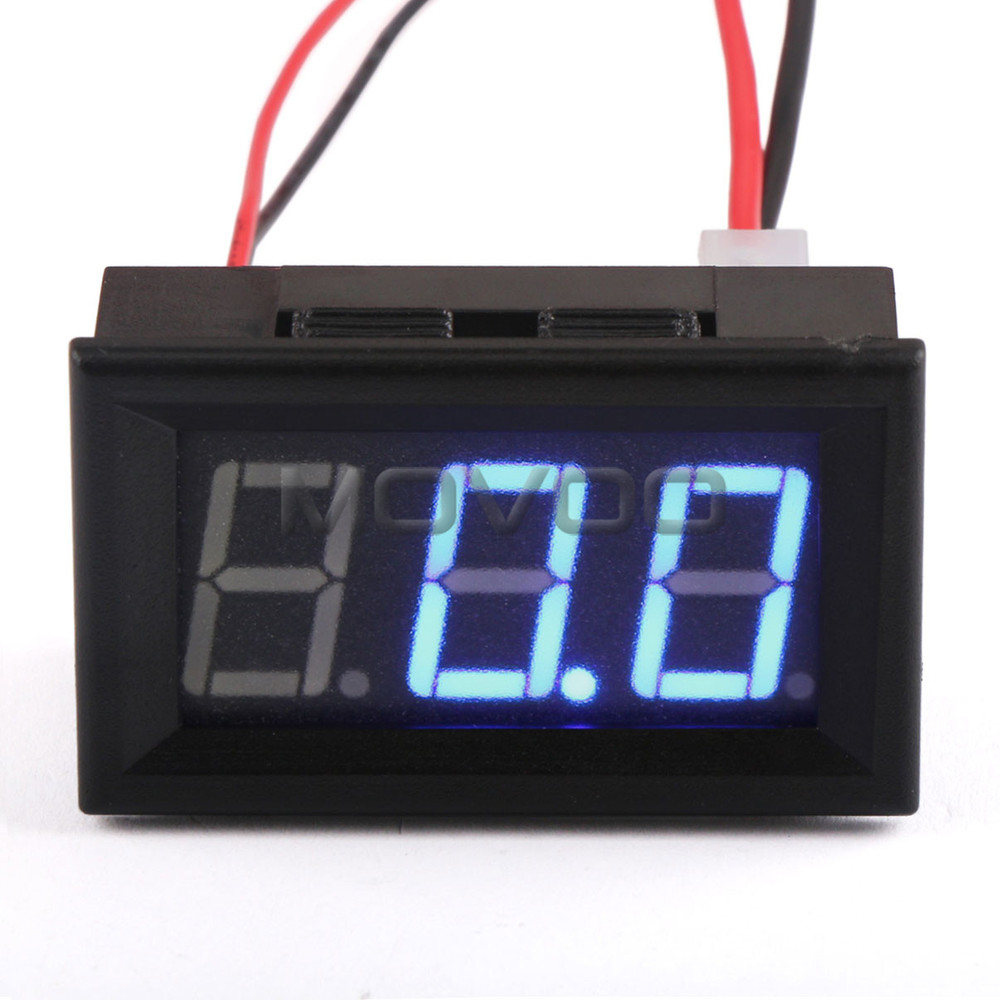 mini amp meter gauge current monitor dc 0 100a digital. Black Bedroom Furniture Sets. Home Design Ideas