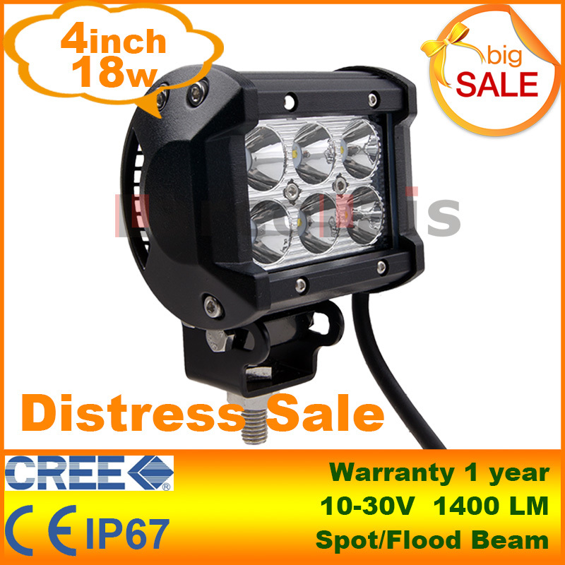 4 inch 18W Cree LED Work Light Lamp Motorcycle Tractor Boat Road 4WD 4x4 Truck SUV ATV Spot Flood 12v 24v - LarcoLais store
