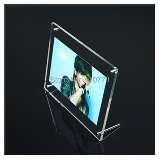 2015 NEW 5pcs/lot Photo Frame 7 inch 215x165mm Acrylic Clear Crystal Frame Home Decoration Creative Organic Glass Picture Frame(China (Mainland))