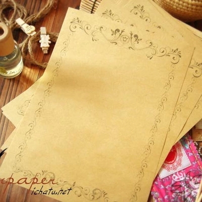 8 Sheets / Set European Style Vintage Lace Romantic Love Letter Paper Stationery Letter Pads Kraft Old Paper(China (Mainland))