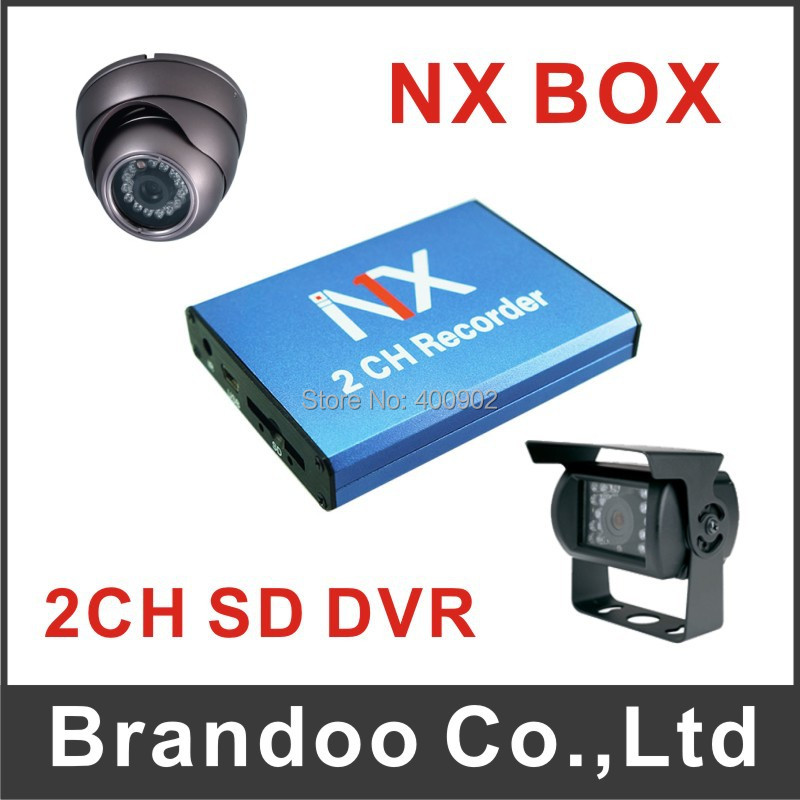 2 channel Mini Car DVR With Motion Detection 128GB SD Card external cameras For Car Bus Office BD-302 Free Shipping<br><br>Aliexpress