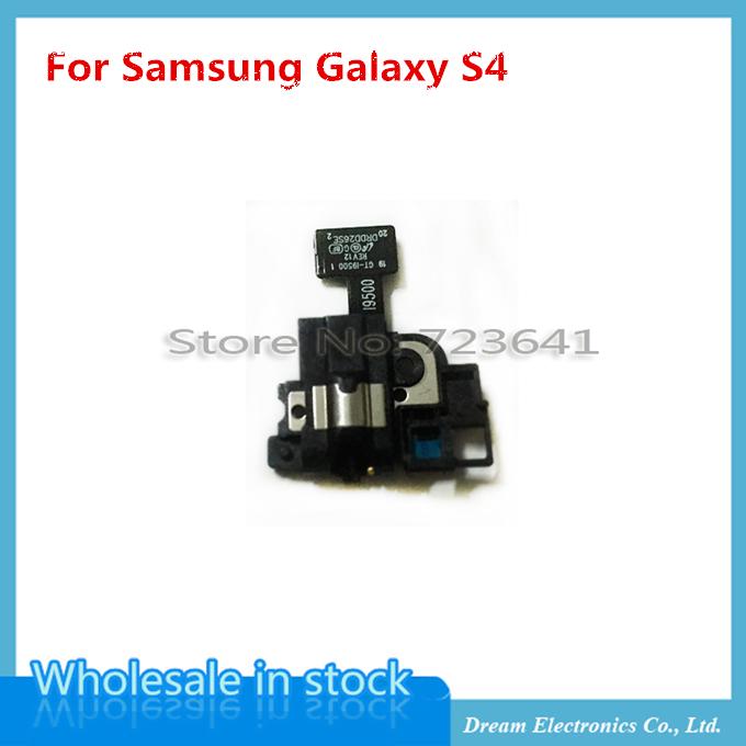 10 pcs/lot Original s4 Headphone Audio Jack + Ear Speaker Earpiece Flex for Samsung Galaxy S4 SIV i9500 i9505(China (Mainland))