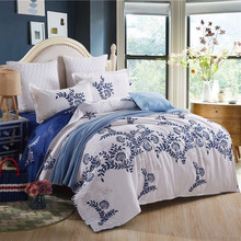 Cotton luxury bedding set doona duvet cover set king Twin Queen size wedding bed set include One Quilt cover Two pillowcase(China (Mainland))