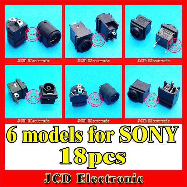 6models, 18pcs, DC Power Jack Connector for Sony VGN-C FE FS FW FZ NR PCG-7 VGN- TZ C SR NW VPC-S11 VPC-S12 VPC-S13(China (Mainland))