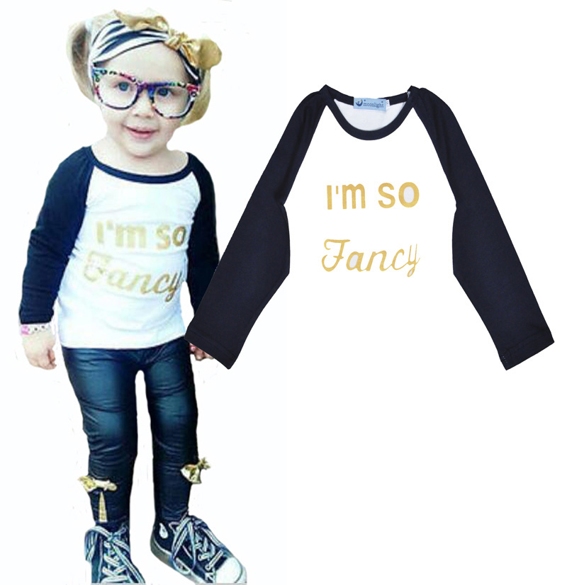 High quality bobo choses girl baby clothes t shirt cute letter printing kids tops brands autumn boy girl motion clothing t-shirt(China (Mainland))