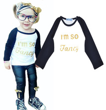 High quality bobo choses girl baby clothes t shirt cute letter printing kids tops brands autumn boy girl motion clothing t-shirt
