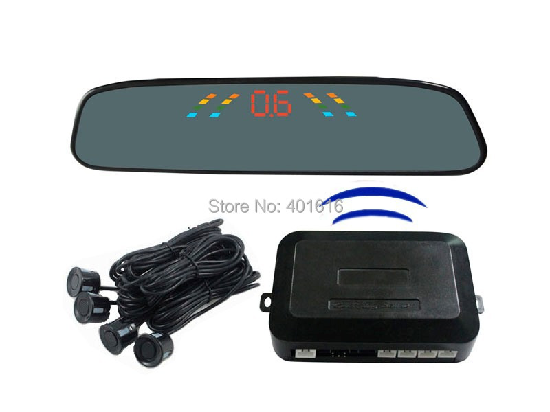 Free Shipping PZ306-W LED Wireless Car Parking Sensor Backup Reverse Rear View Radar Alert Alarm System with 4 Sensors(China (Mainland))