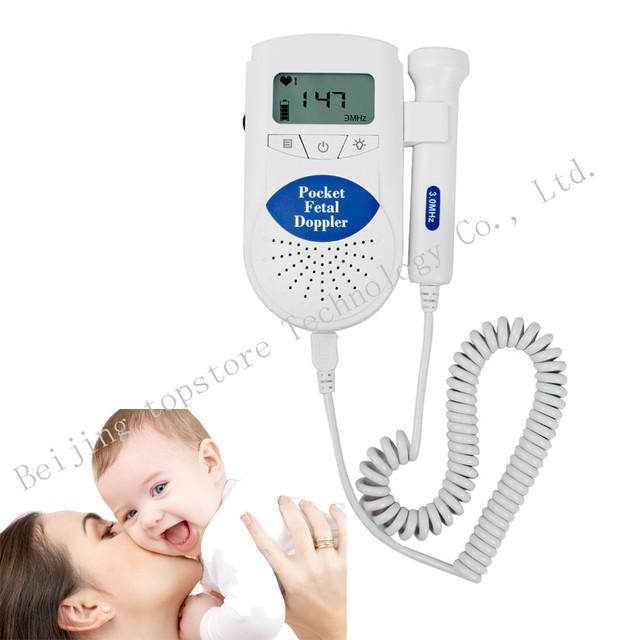100% высокое качество 3 мГц пульса монитор плода детектор доплеровский сердцебиение плода детектор жк-экран