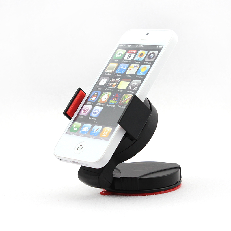 Universal Windshield Car Mount Stand Holder For Mobile Phone GPS PDA iPod for iPhone ( Red)(China (Mainland))