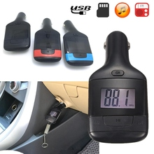 High Quality Durable LED 3.5mm FM Transmitter MP3 Audio Player Car Kit Charger USB Aux TF Remote For Mobile Cell Phone Suport TF(China (Mainland))