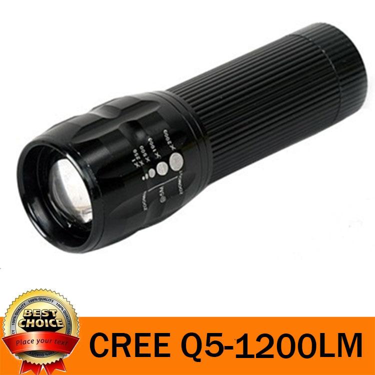 UltraFire 5W 1200LM Mini cree Q5 Zoomable LED Flashlight Adjustable Focus Portable LED Light Lamp Flashlight Torch(China (Mainland))