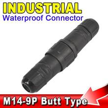Buy AK Industrial 5A 400V LED Power 9 Pin Waterproof IP68 Electrical Connector 9pin Wire Contacts Butt Type 9 Pole Plug Adapter for $3.73 in AliExpress store