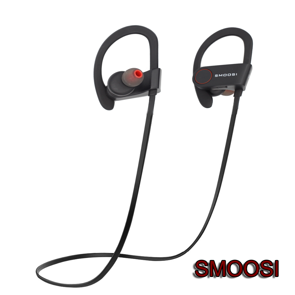 Top Quality SMOOSI CSR Q6 Bluetooth Earphone Sports Wireless PB HIFI Earphones Music Stereo Headphone Earhook Headset Running(China (Mainland))