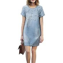 Buy 2017 Plus Size 4XL Casual Jeans Sundress Women's Denim Dress Vestidos Feminina Summer Style Beaded Party Dresses H2 for $8.53 in AliExpress store