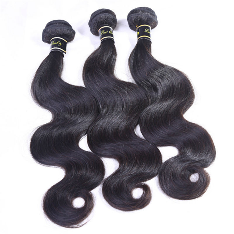 Hot sell AAAAAA malaysian virgin hair 100% Unprocessed malaysian body wave malaysian hair human hair weave 4 pcs   free Shipping