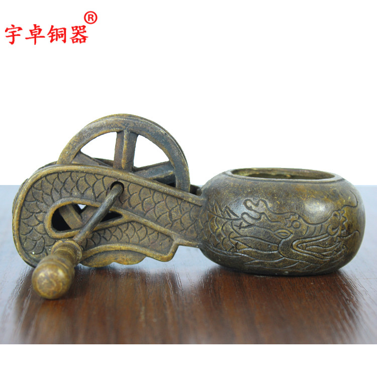 Yu Zhuo copper Bronze Dragon fountain fountain copper crafts wood ornaments three models(China (Mainland))
