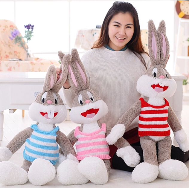 100cm Hot Selling Plush Bugs Bunny Stuffed Animal Kawaii Doll For Kids Soft Pillow For Girls Funning Super Quality(China (Mainland))
