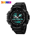 2016 New Brand SKMEI Fashion Sport Watch Men Electronic Digital Analog Silicone Watch Waterproof Wristwatches for