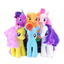 J203 Super Cute! !18cm Cartoon Kids TV Rainbow MLP Animal Little Horse Stuffed Doll Plush Toys Kids Birthday Gifts  Wholesale(China (Mainland))