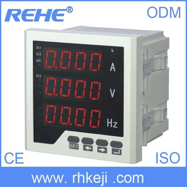 digital three phase cobination meter  multi-function meter current ammeter voltage frequency meter