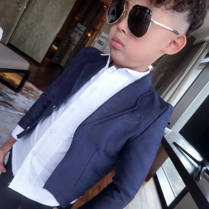 Wholesale Retail Kids Blazers Dark Floral Boys Prince Blazers Top Quality Boys Wedding,Party Outwear Slim,Short Style Kids Coat(China (Mainland))