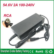 Buy 48V 13S lithium battery charger Output 54.6V 2A RCA plug 48v 2a li-ion battery charger 48V 2A charger electronic bike for $29.99 in AliExpress store