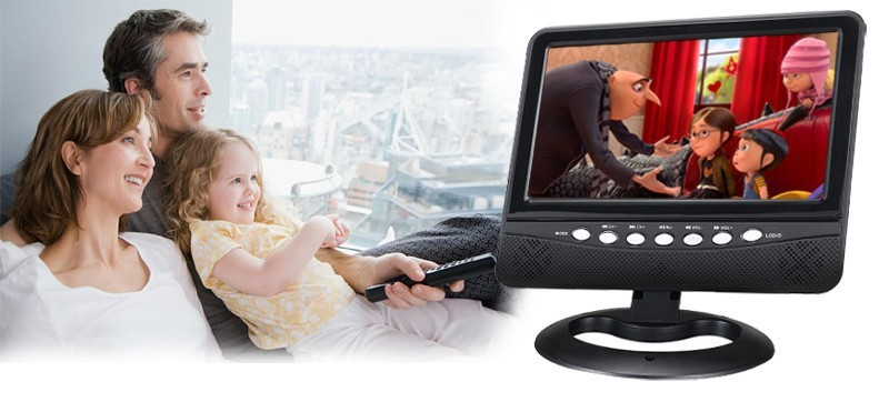 2015 Newest 7inch LCD Color Analog Portable TV Support ISDB-T SD/MMC Card USB Flash Disk Televisions(China (Mainland))