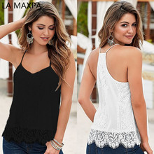Buy European American fashion new summer women lace eyelash lace condole belt unlined upper garment leisure sexy small ve for $7.09 in AliExpress store