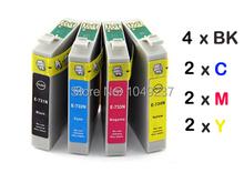 10 ink cartridge (2set+2BK) compatible with 73N T0731N-T0734N for epson  printer Stylus CX5500 CX5900 TX200 TX210
