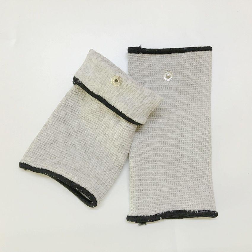 Drop ship 50 pair Silver fiber Electrode massage Wrist/knee/Socks,prevent rheumatism,electrode stimulation TENS/EMS accessories(China (Mainland))