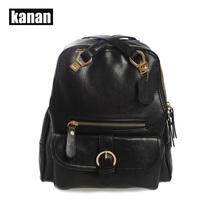 KANAN Women Classics Leather backpack Retro Soft Cowhide Leather backbag Female Bag mochila bolsas Shoulder Bag School Bags K539(China (Mainland))
