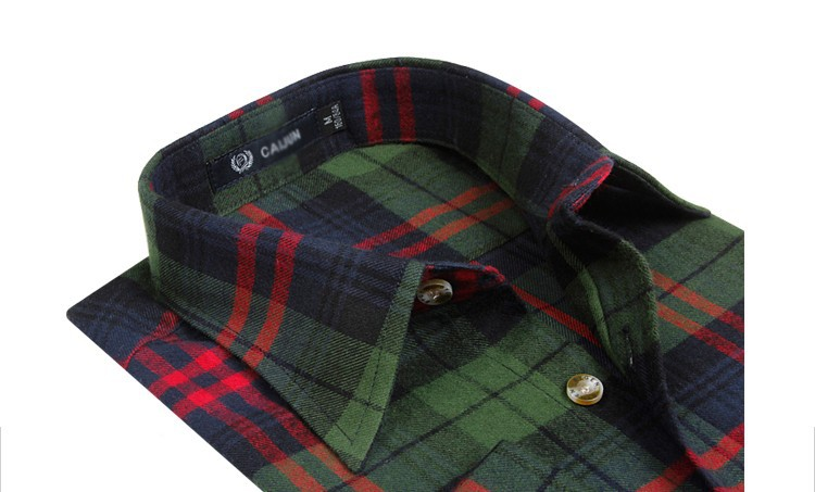 Men's Long Sleeve Plaid Shirts Flannel 1