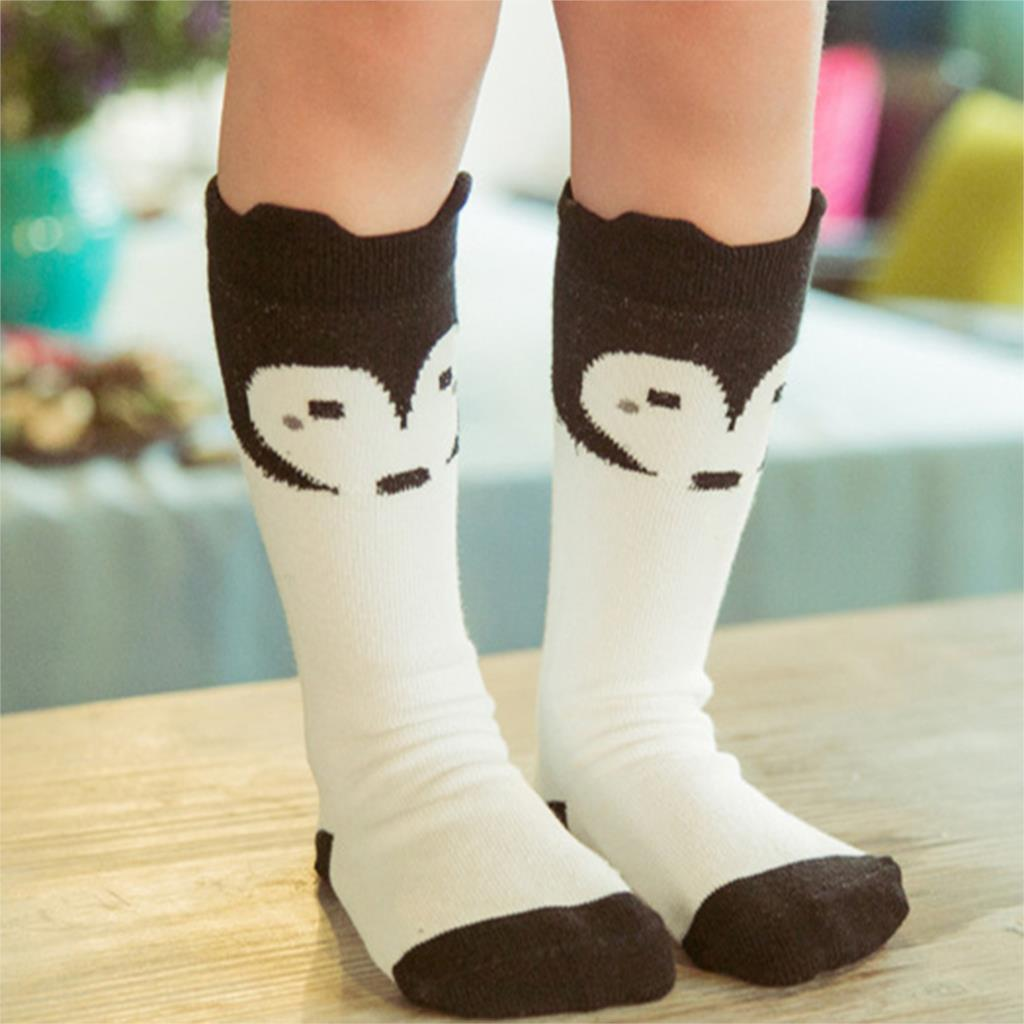 2015 Cartoon Fox Kid Socks Cute Animal Cotton Baby Boy Girl Knee High Socks Children Toddler Winter Warm Leg Warmers