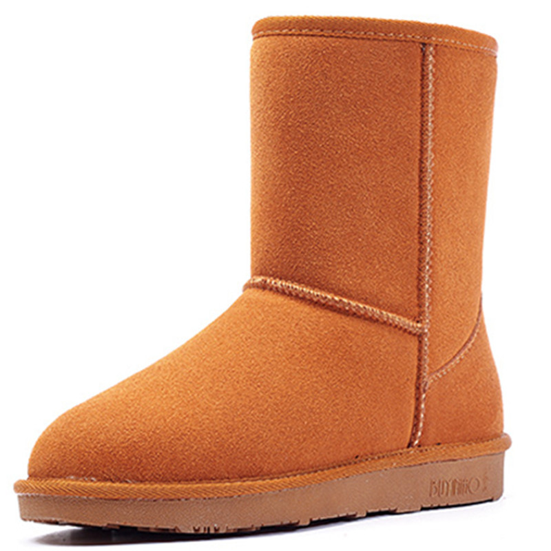 Classic Womens Snow Boots Brand New Womens Ankle Boots Shoes Winter 2015 Genuine Leather Womens Boots Shoes Wholesales