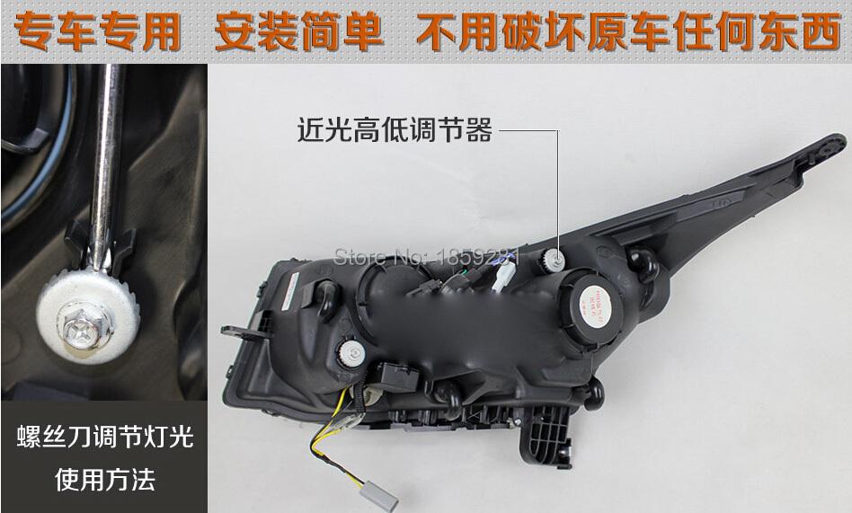 Cruz headlight,2009~2013,Fit for LHD,RHD need add 200USD),Free ship!Jetta headlight,2ps/se+2pcs Aozoom Ballast; Cruz
