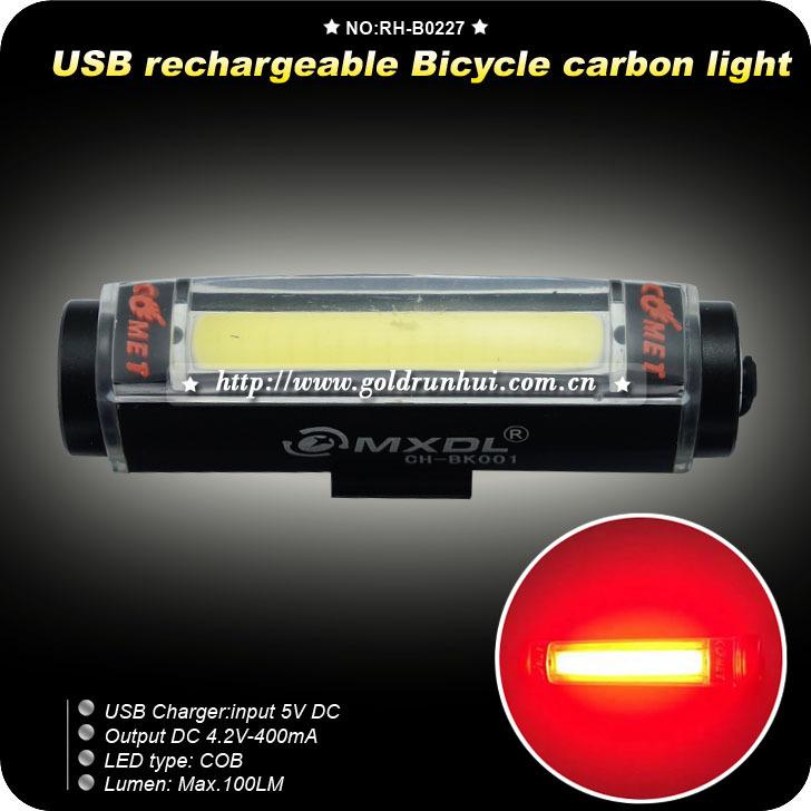 USB Rechargeable LED Bicycle Rear Light Set COB High Brightness 100 Lumen Red LED Bike Taillight Rear 3 Mode Cycling Lamp Bike(China (Mainland))