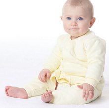 New arrivals Baby sleeping suit Sleepwear robes  High quality Sliod High quality Natural cotton 3 colors(China (Mainland))