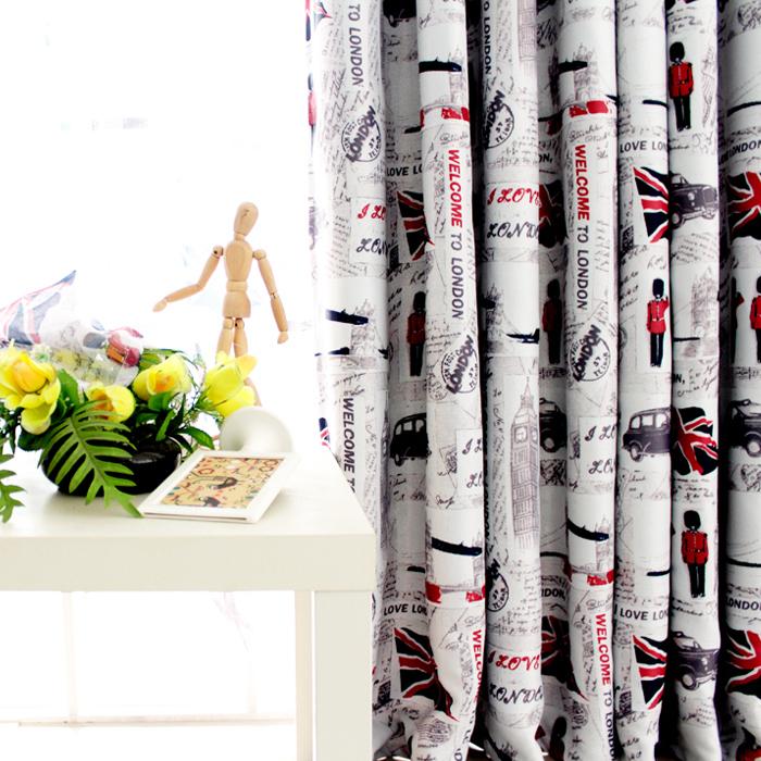 2014 new British style nice curtains uk ready made curtains uk curtain fabric uk free shipping(China (Mainland))