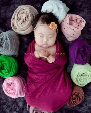Baby s photography wrapped in cloth 0 6 month newborn Photography props blankets 6880