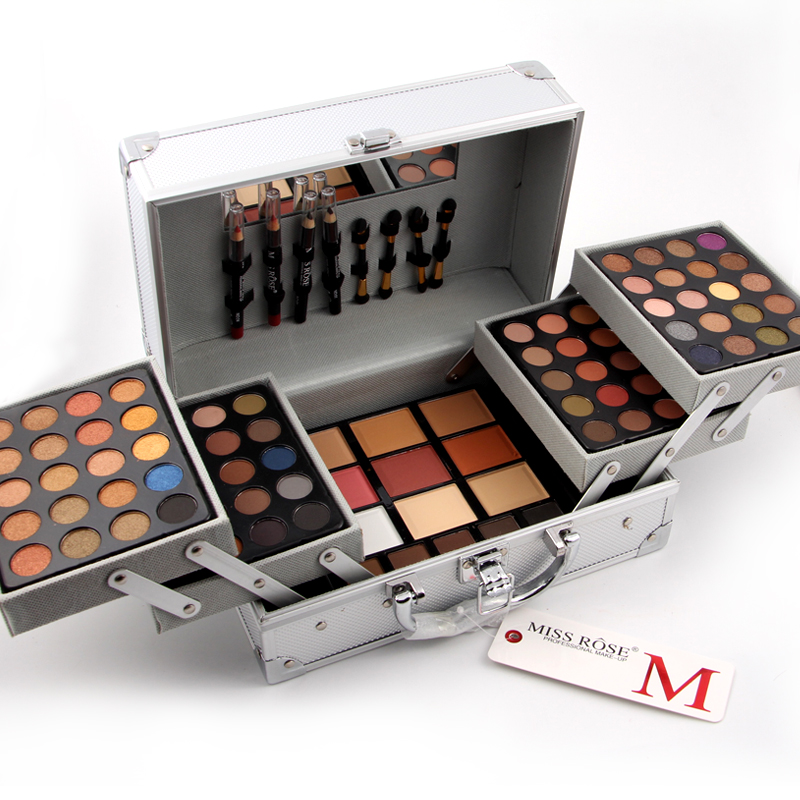 miss rose aluminum case professional make up set elegrant